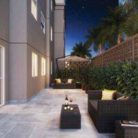 Casa Fit Brás - Área de lazer: Perspectiva lounge externo