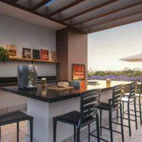 Forma Butantã - Área de lazer: Perspectiva espaço beer e churrasqueira