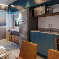Forma Butantã - Perspectiva living 1 dormitório