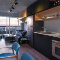 Forma Butantã - Perspectiva living 1 dormitório terraço