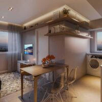 Forma Butantã - Perspectiva living 2 dormitórios
