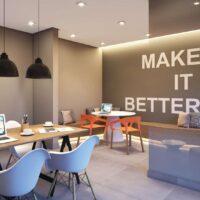 Galeria 635 - Área de lazer: Perspectiva co working