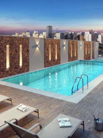 Memory Anália Franco - Área de lazer: Perspectiva piscina