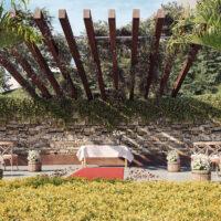 Parque Imperial Residencial Clube - Área de lazer: Perspectiva detalhe espaço paz