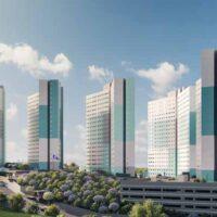 Parque Imperial Residencial Clube - Perspectiva fachada torres