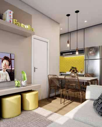 Parque Imperial Residencial Clube - Perspectiva living