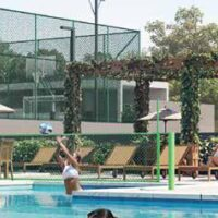 Parque Imperial Residencial Clube - Área de lazer: Perspectiva quadra biribol e solarium