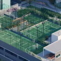 Parque Imperial Residencial Clube - Área de lazer: Perspectiva quadras