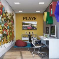 Parque Imperial Residencial Clube - Área de lazer: Perspectiva sala de games