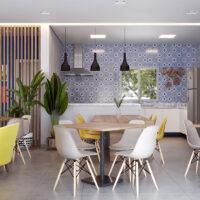 Parque Imperial Residencial Clube - Área de lazer: Perspectiva salão gourmet