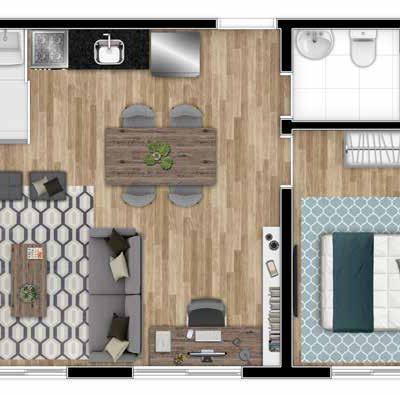 Parque Imperial Residencial Clube - Planta 40m² 1 dormitório