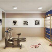 Plano Cupecê - Área de lazer: Perspectiva fitness