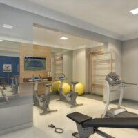 Plano Estação Vila Sônia - Área de lazer: Perspectiva fitness