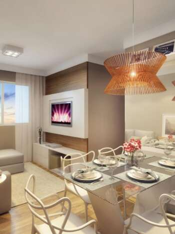 Plano Raposo - Perspectiva living 2 dormitórios