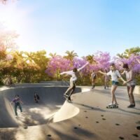 Reserva Raposo - Área de lazer: Perspectiva pista skate