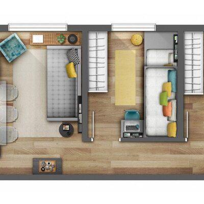 Reserva Raposo - Planta 44m² 2 dormitórios
