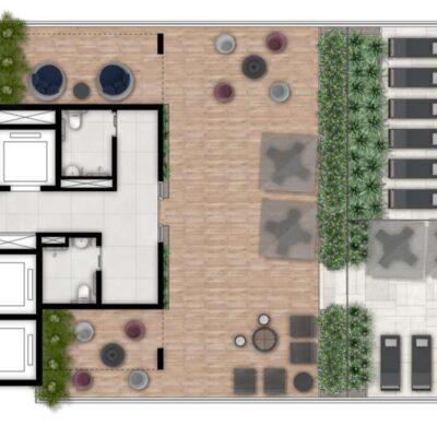 Fit Casa Alto do Ipiranga - Implantação Rooftop