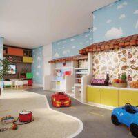 Casa Fit Brás - Área de lazer: Perspectiva brinquedoteca