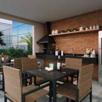 Casa Fit Brás - Área de lazer: Perspectiva churrasqueira