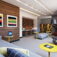 Casa Fit Brás - Área de lazer: Perspectiva coworking