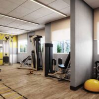 Casa Fit Brás - Área de lazer: Perspectiva fitness