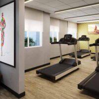 Casa Fit Brás - Área de lazer: Perspectiva fitness aeróbico