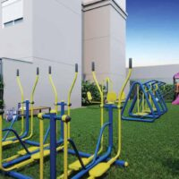 Casa Fit Brás - Área de lazer: Perspectiva fitness externo