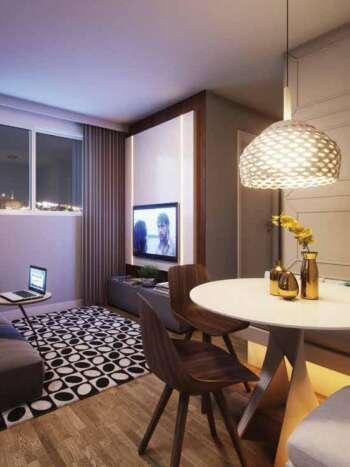 Casa Fit Brás - Perspectiva living 38m² 2 dormitórios