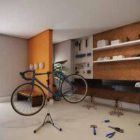 Casa Fit Brás - Área de lazer: Perspectiva oficina bike