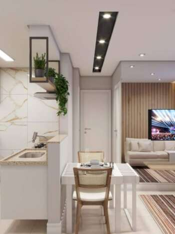 SP Life Cambuci - Perspectiva Living 35m² - 2 dormitórios