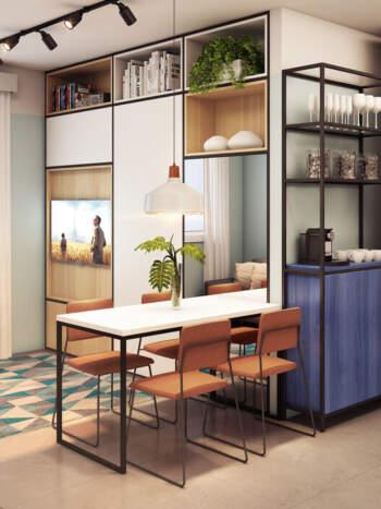 Viva Benx Nações Unidas - Perspectiva 33m² - 2 dormitórios