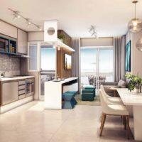 Viva Benx Santana - Perspectiva 55m² - 2 dormitórios