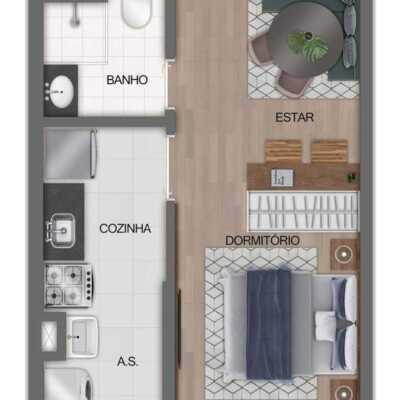 Fit Casa José Bonifácio - Planta 26m² - Studio