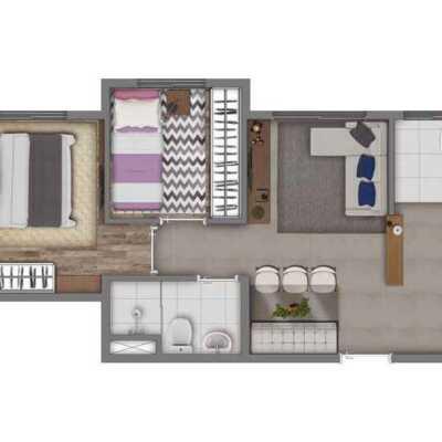 Vivaz Cantareira - Planta 38m² - 2 Dormitórios