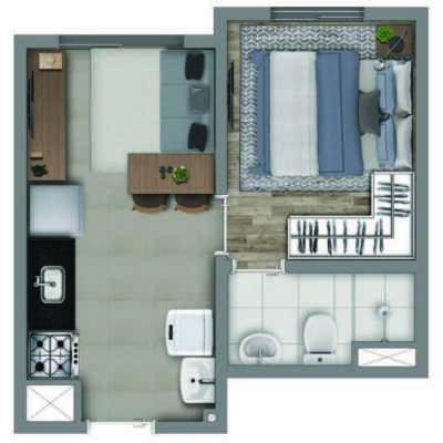 Vivaz Vila Romana - Planta 24m² - 1 Dormitório