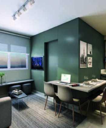 Influence Ipiranga - Perspectiva 35m² - 2 Dormitórios - Living