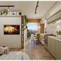 Laparque Lapa Perspectiva 41m 2 Dormitorios Living