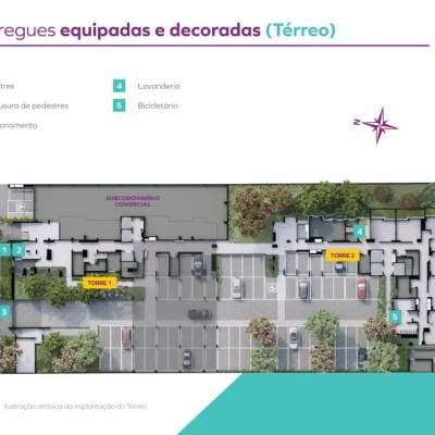Vivaz Estação Santa Marina - Implantação Térreo