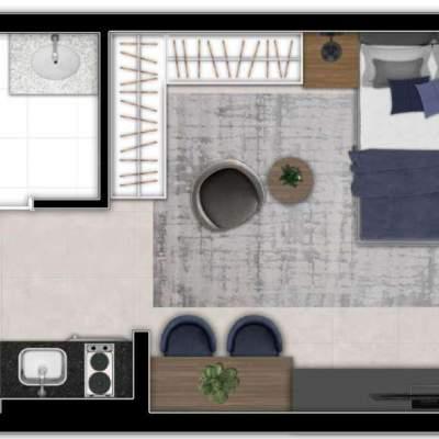 Zoom Santa Cecilia - Planta 24m², Studio NR