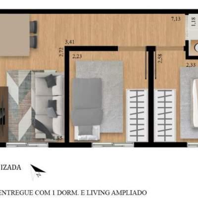 Residencial Manzoni - Planta 38m² Unidade 19