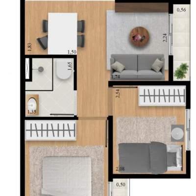Residencial Manzoni - Planta 39m² Unidade 11