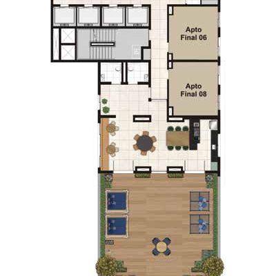 Viva Benx Estilo Pompeia - Implantação Rooftop 26º Pavimento