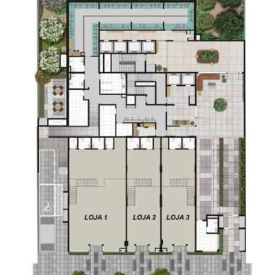 Viva Benx Estilo Pompeia - Implantação Terreo 1º Pavimento