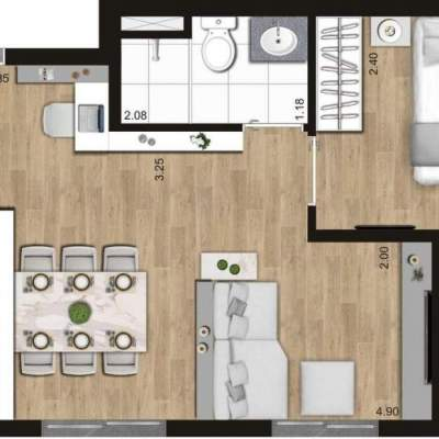 KZ Vision Freguesia do Ó - Planta 36m² - 1 dormitório