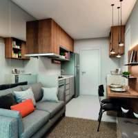Plano & Brás - Perspectiva living 1 dormitório