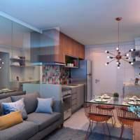 Plano & Brás - Perspectiva living 2 dormitórios