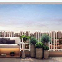 Jequitibá Alto do Jardim Econ - Perspectiva varanda de 29m²