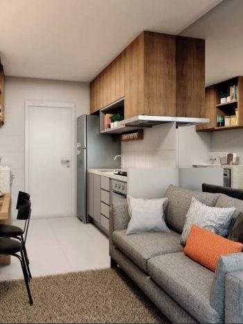 Plano & Estação Belém - Perspectiva living 1 dormitório