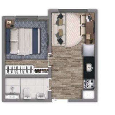 Vivaz Penha - Planta 24m² - 1 dormitório
