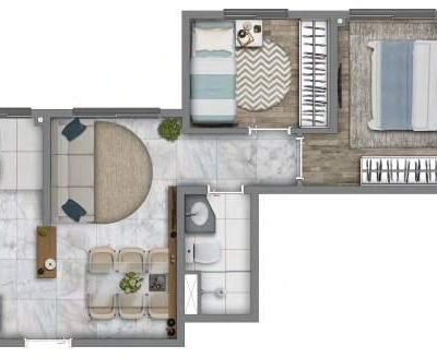 Vivaz Prime Rio Bonito - Planta 39m² - Comfort